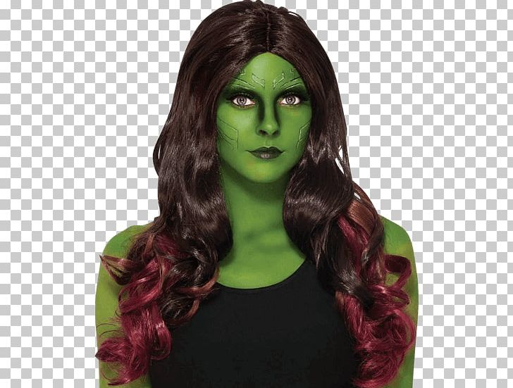 Gamora Guardians Of The Galaxy Rocket Raccoon Wig Costume PNG, Clipart, Adult, Brown Hair, Clothing Accessories, Costume, Female Free PNG Download