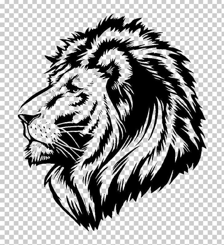 Lion Wall Decal Sticker Polyvinyl Chloride PNG, Clipart, Animals, Big Cats, Black, Bumper Sticker, Carnivoran Free PNG Download