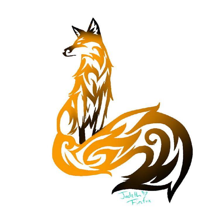 Fox tribal. Sleeve tattoo tribe png