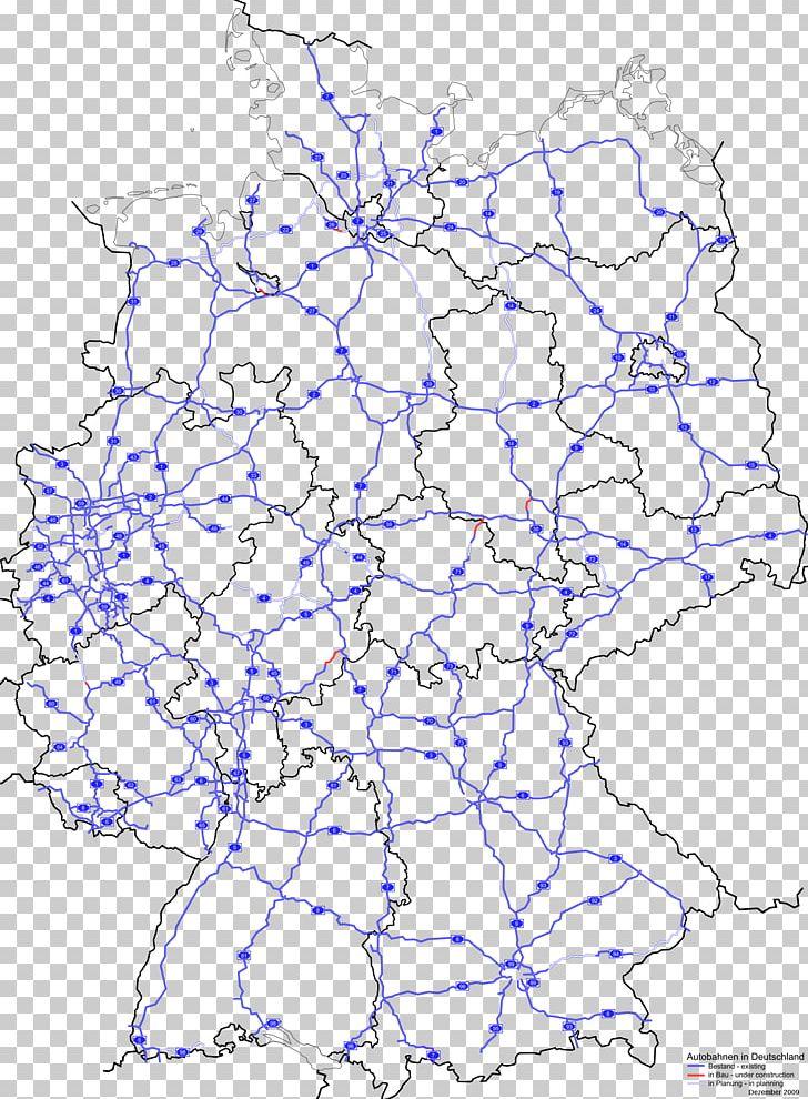 Bundesstraße Autobahnen In Deutschland Germany Map PNG ...