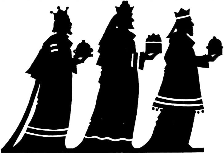 Adoration Of The Magi Biblical Magi Epiphany Silhouette PNG, Clipart, 3 Wise Men, Adoration Of The Magi, Biblical Magi, Black, Black And White Free PNG Download