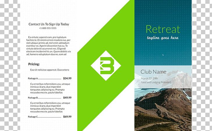 Marketing Brochure Template Information Adobe InDesign PNG