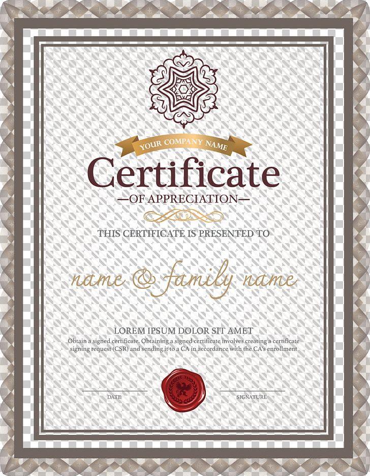 Template Academic Certificate R Sum Microsoft Word PNG