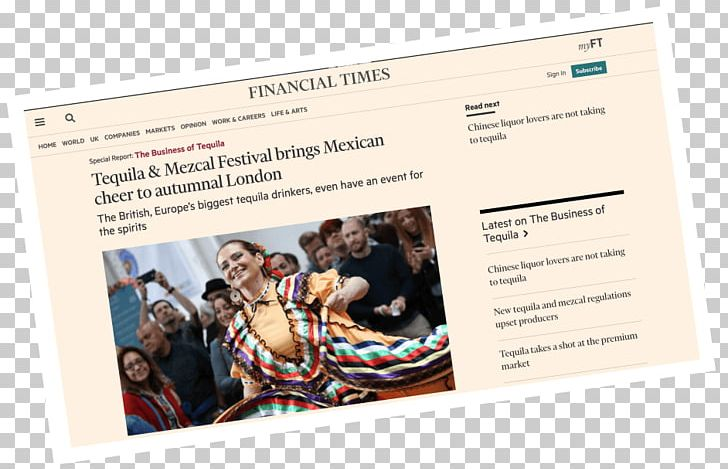 Mezcal Tequila Advertising Financial Times Finance PNG