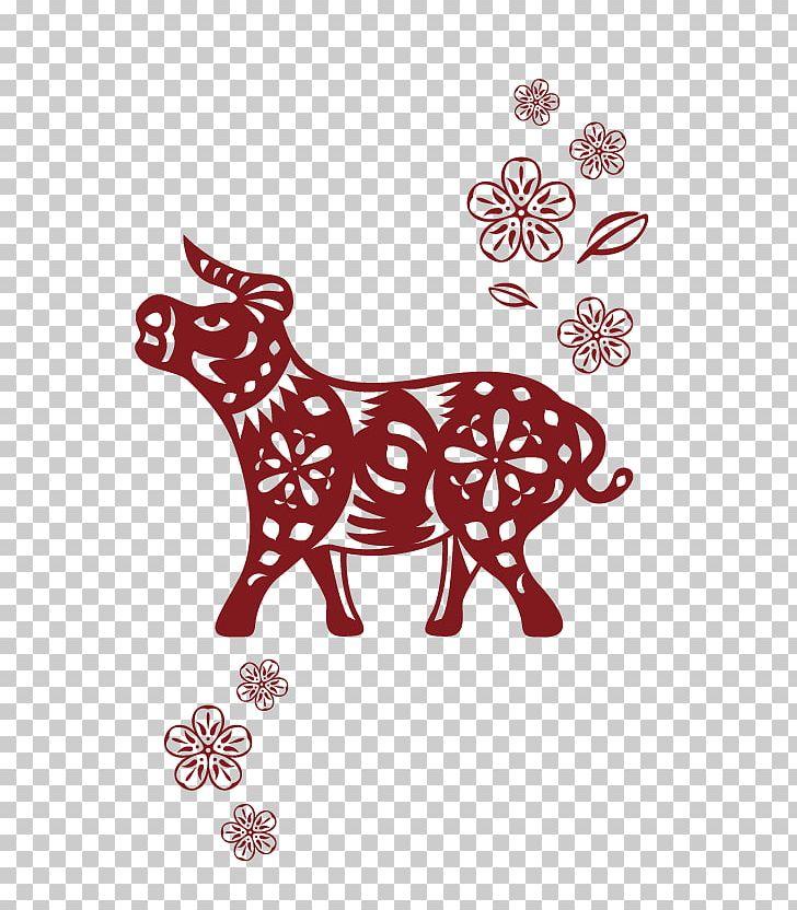 Chinese Zodiac Ox Wild Boar Dragon PNG, Clipart, Area, Carnivoran