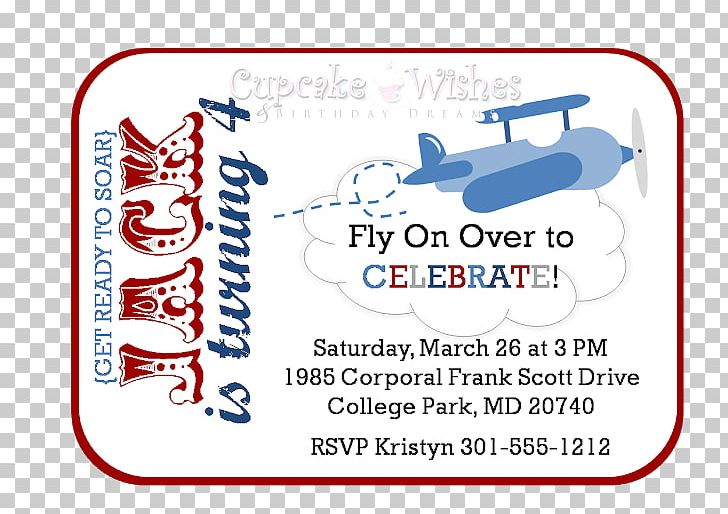 Airplane Party Invitations Cupcake Birthday PNG Clipart 0506147919 Area Blog Free Download