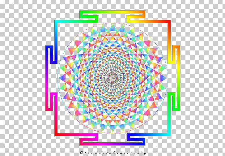 Sri Yantra Sacred Geometry Mandala Chakra PNG, Clipart, Area