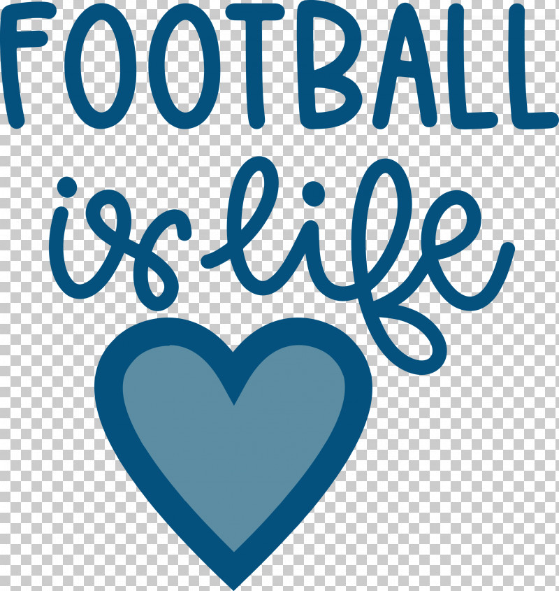 Football Is Life Football PNG, Clipart, Football, Geometry, Heart, Line, Logo Free PNG Download