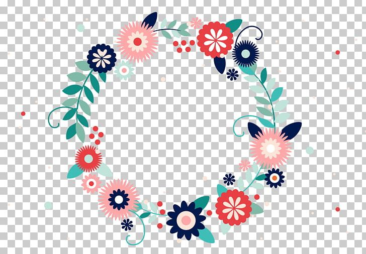 Typography Flower Wreath PNG, Clipart, Blue Flowers, Border Texture, Circle, Color Splash, Design Free PNG Download