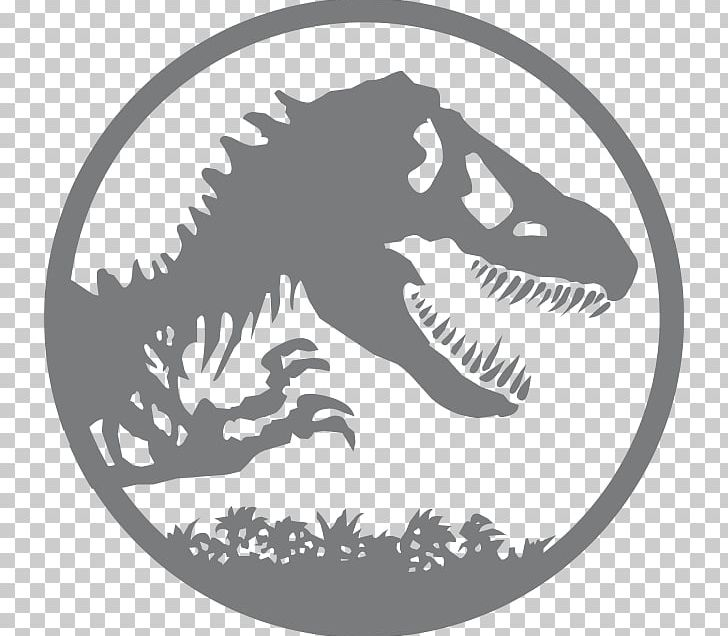YouTube Jurassic Park Logo Graphic Design PNG, Clipart, Black And White, Decal, Dinosaur, Drawing, Fictional Character Free PNG Download