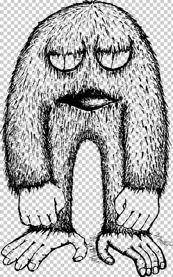 Bigfoot Drawing Black And White Png Clipart Art Bigfoot