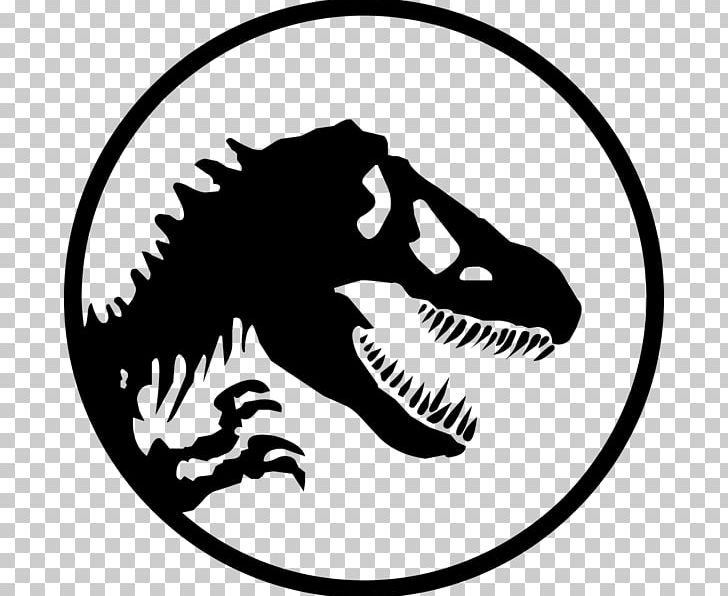 YouTube Jurassic Park Logo PNG, Clipart, Area, Artwork, Black And White, Dinosaur, Encyclopedia Free PNG Download
