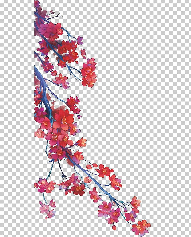 Watercolor Painting Ink Wash Painting Chinese Painting PNG, Clipart, Art, Blossom, Branch, Cherry Blossom, Chinese Art Free PNG Download