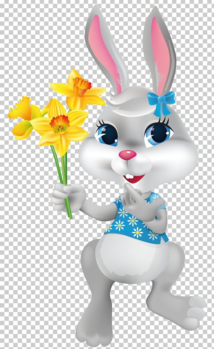 Easter Bunny With Daffodils PNG, Clipart, Amazon Kindle, Art, Clip Art, Daffodils, Desktop Wallpaper Free PNG Download