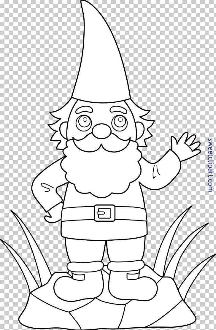 Garden Gnome Flower Garden Drawing Coloring Book Png Clipart Angle Area Art Black And White Cartoon
