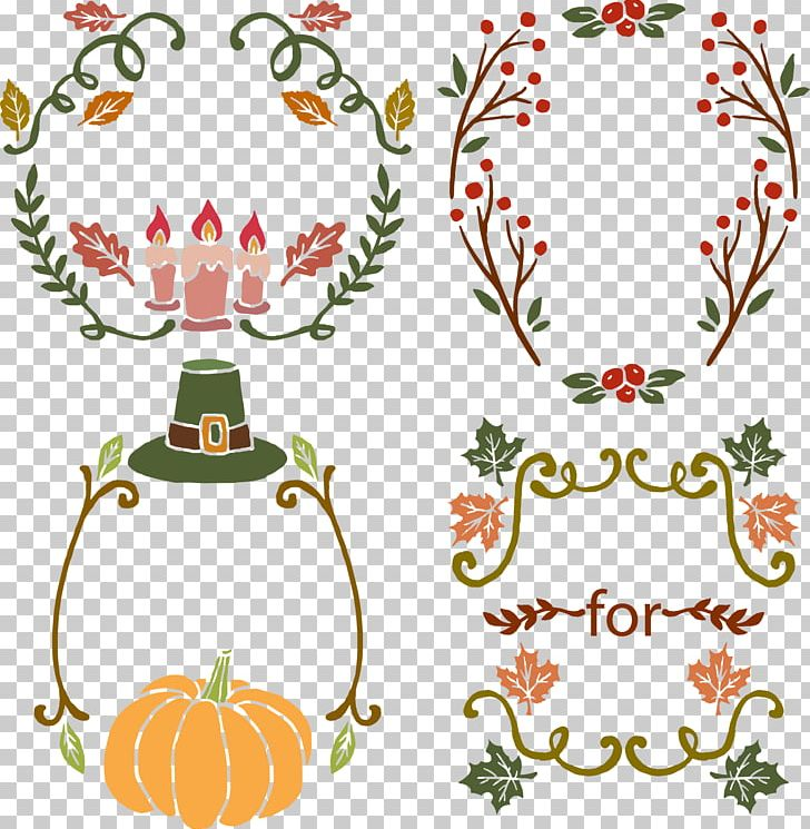 Halloween Thanksgiving Christmas Clipart.Thanksgiving Pumpkin Wreath Halloween Png Clipart Area