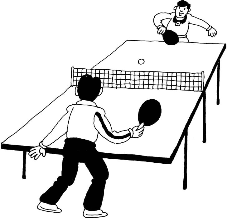Stupendous Play Table Tennis Ping Pong Paddles Sets Coloring Book Png Home Remodeling Inspirations Genioncuboardxyz
