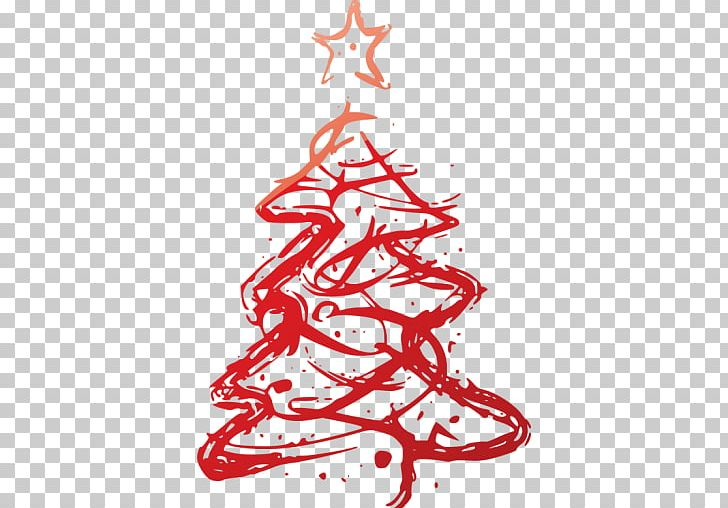 Christmas Tree Art.Christmas Tree Painting Art Christmas Decoration Png