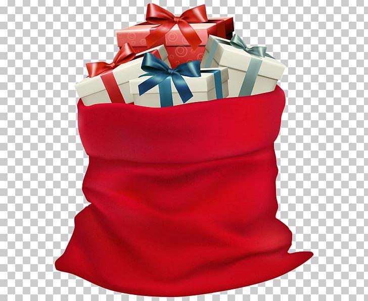 Elf Christmas Gift Bags.Santa Claus Gift Bag Christmas Png Clipart Bag Christmas