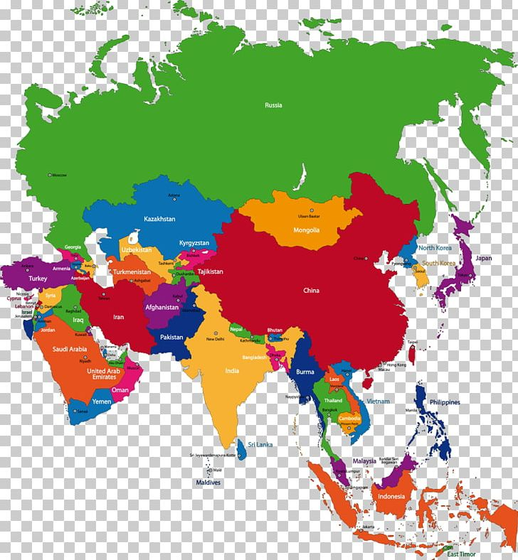 Map Of Asia By Country.East Asia Map Country Capital City Png Clipart Area Art Asia