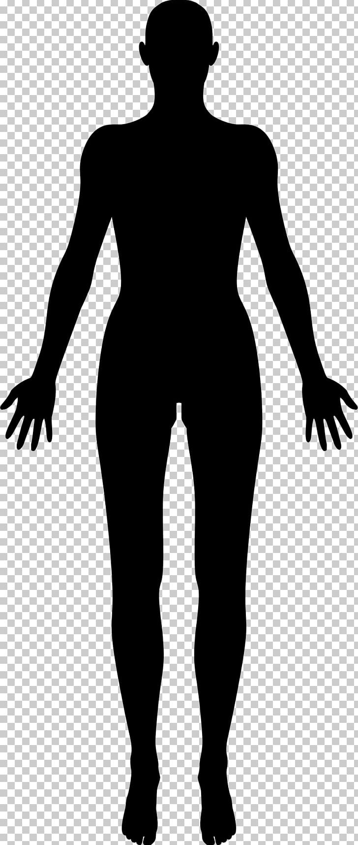Body shape. Female human silhouette png