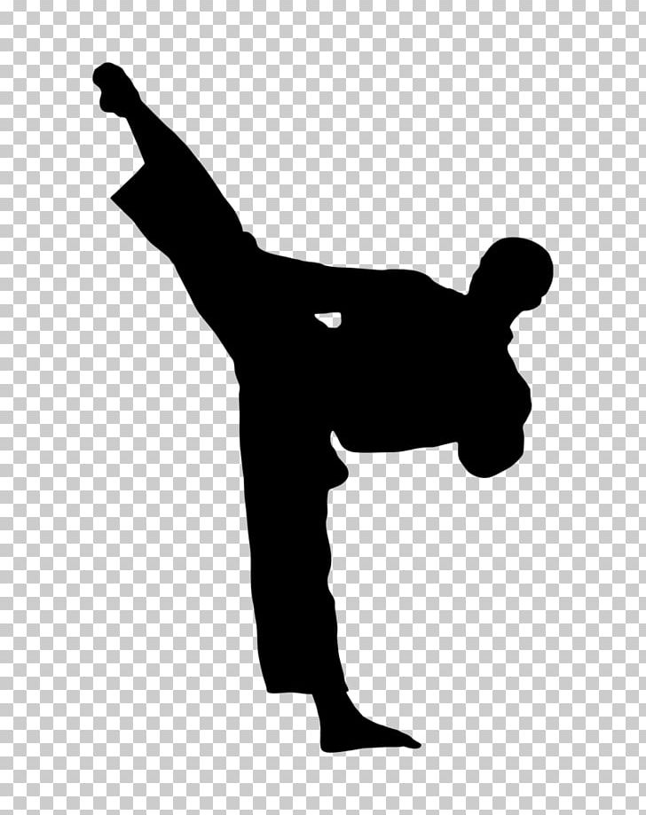 Kick Karate Martial Arts Taekwondo PNG, Clipart, Arm, Black And White, Clip Art, Finger, Flying Kick Free PNG Download