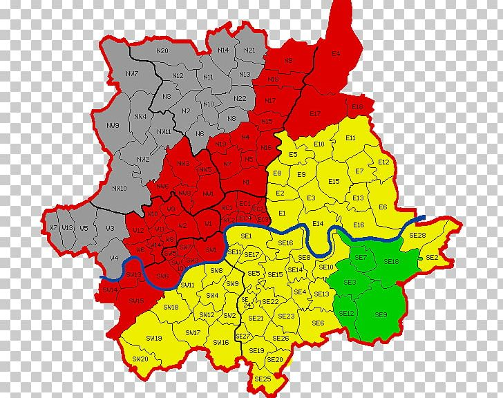 A-Z Postcode Map Of London  Postal Code PNG, Clipart, Area