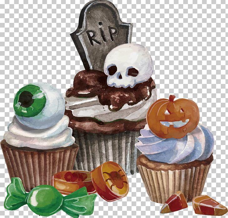 Halloween Dessert Euclidean PNG, Clipart, Buttercream, Cake, Candy, Cupcake, Dessert Free PNG Download