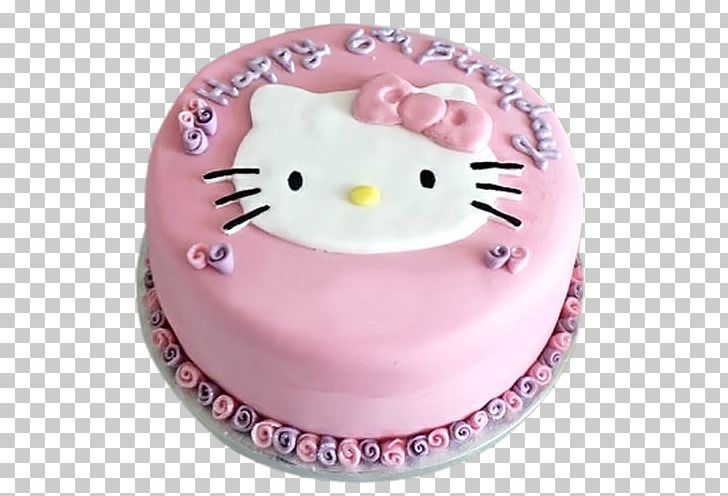 Pleasant Birthday Cake Hello Kitty Torte Tart Frosting Icing Png Clipart Funny Birthday Cards Online Alyptdamsfinfo