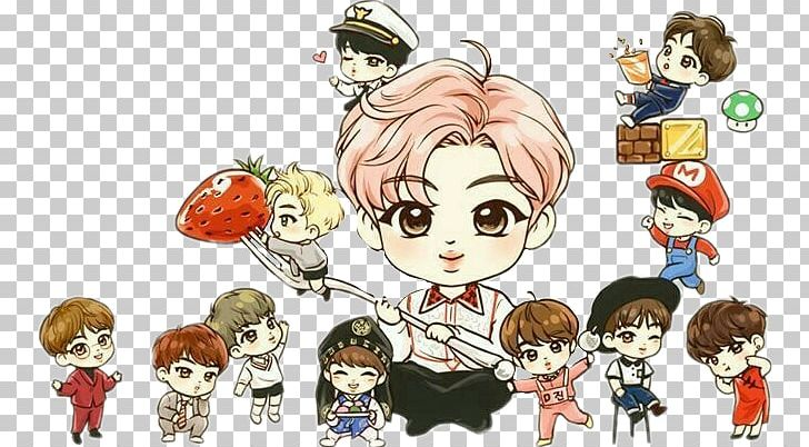 BTS Drawing Fan Art Chibi K-pop PNG, Clipart, Anime, Art, Bts, Bts Bulletproof, Bts Chibi Free PNG Download