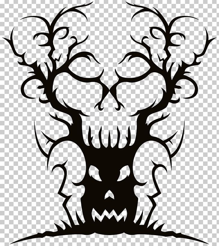 Tree Spooky Halloween PNG, Clipart, Art, Artwork, Black, Black And White, Blog Free PNG Download