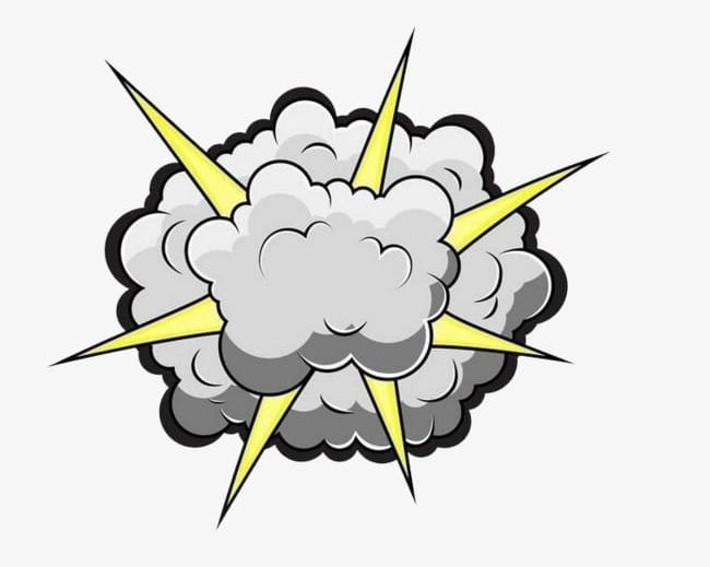Smoke explosion. Explode the png clipart