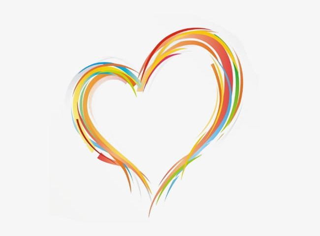 Multicolored Heart Png Clipart Circle Color Computer Wallpaper
