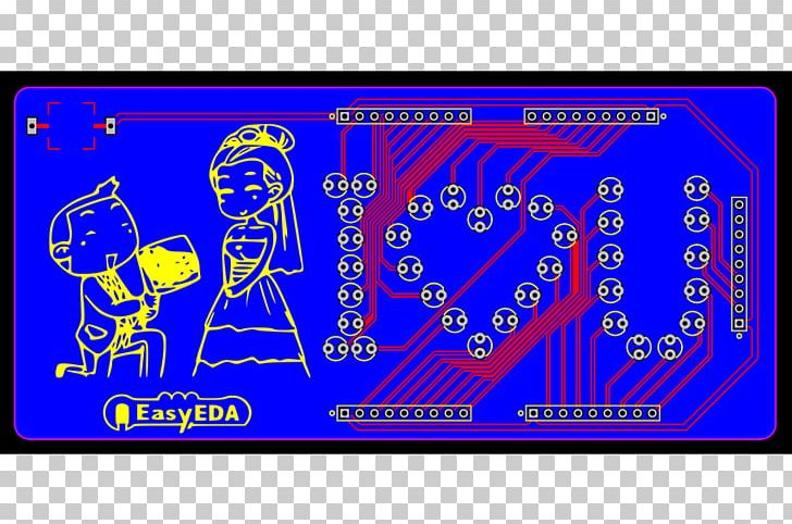 Printed Circuit Board EasyEDA Electronic Circuit Simulation Electronic Design Automation PNG, Clipart, Animals, Area, Blue, Circuit Design, Circuit Diagram Free PNG Download