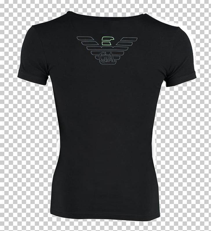 T-shirt Clothing Swoosh Crew Neck PNG, Clipart, Active Shirt, Armani Logo, Black, Brand, Clothing Free PNG Download