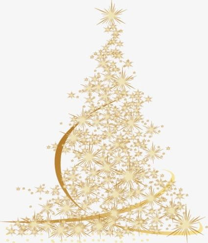 Golden Christmas Tree Png Clipart Christmas Christmas Clipart