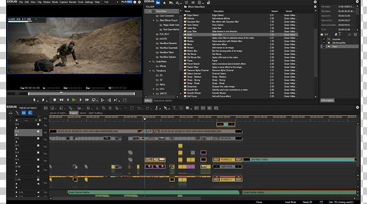 Edius Video Editing Software Non-linear Editing System 4K