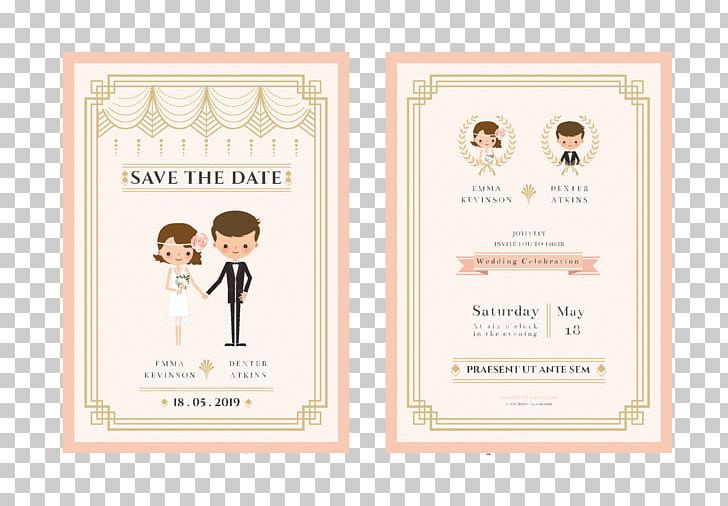 Wedding Invitation Bridegroom Cartoon Png Clipart Border