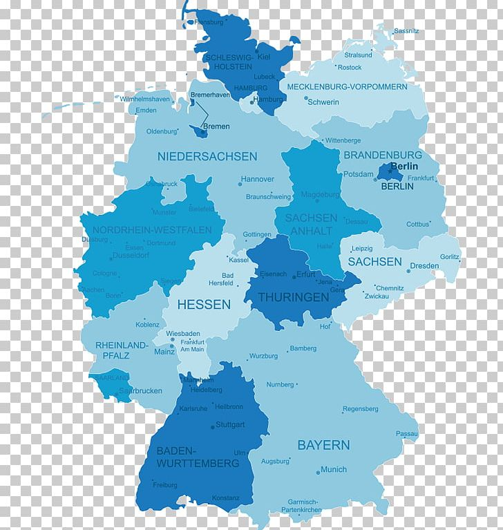 States Of Germany World Map Schleswig-Holstein Topographic ...
